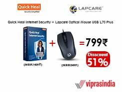 Quick Heal Antivirus + Lapcare USB Mouse