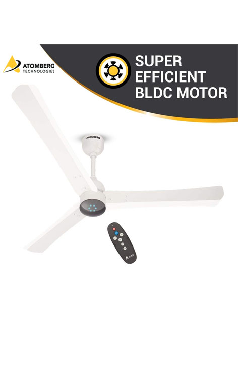 Atomberg Renesa Smart+ 1200 mm BLDC  Ceiling Fan  with Remote - Pearl White