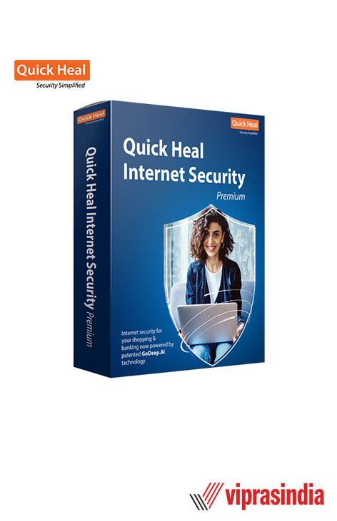 Antivirus Quick Heal Internet Security 1 PC 1  Year