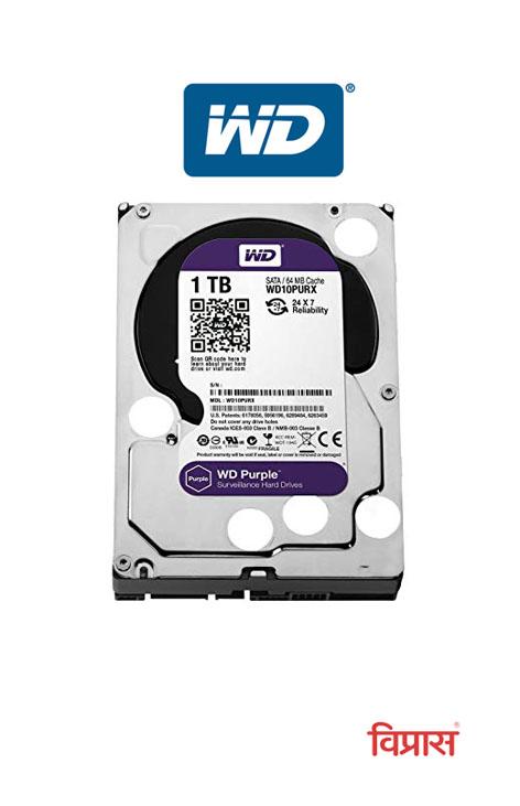 Hard Drive WD 1TB Purple Surveillance Internal