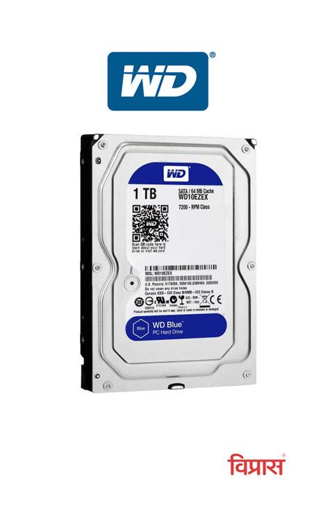 Hard Drive WD 1TB Blue Desktop Internal