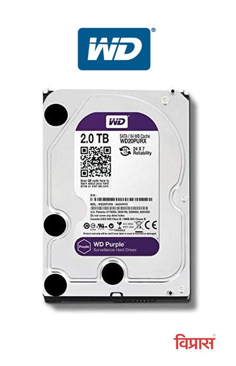 Hard Drive WD 2TB Purple Surveillance Internal