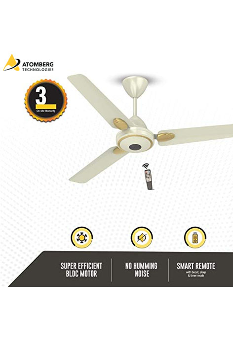 Atomberg Efficio+ 1200 mm BLDC Ceiling Fan with Remote - Pearl Ivory