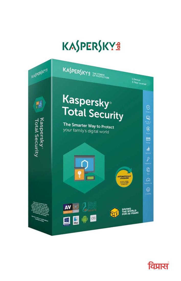 Antivirus Kaspersky Total Security 1 User 3 Year