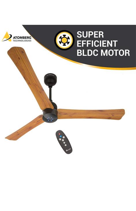 Atomberg Renesa Smart+ 1200 mm BLDC  Ceiling Fan  with Remote - Golden Oakwood