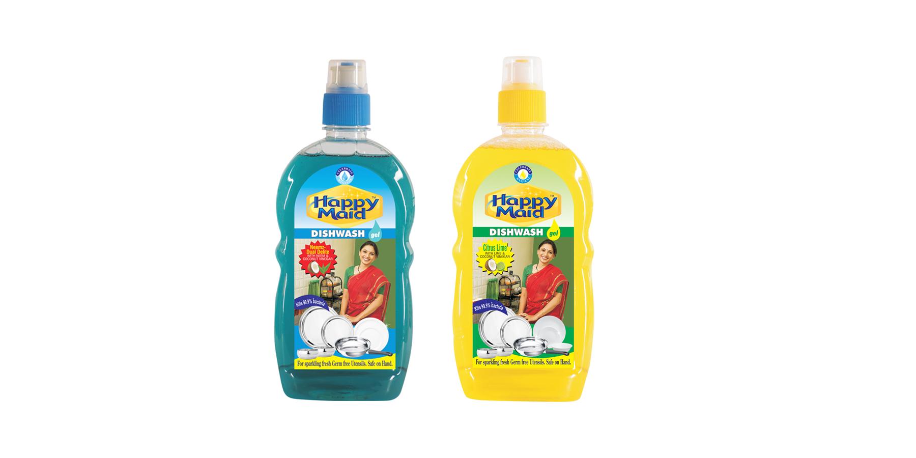 Happy Maid CITRUS LIME + NEEM Combo Dishwashing Detergent  (500 ml x 2)