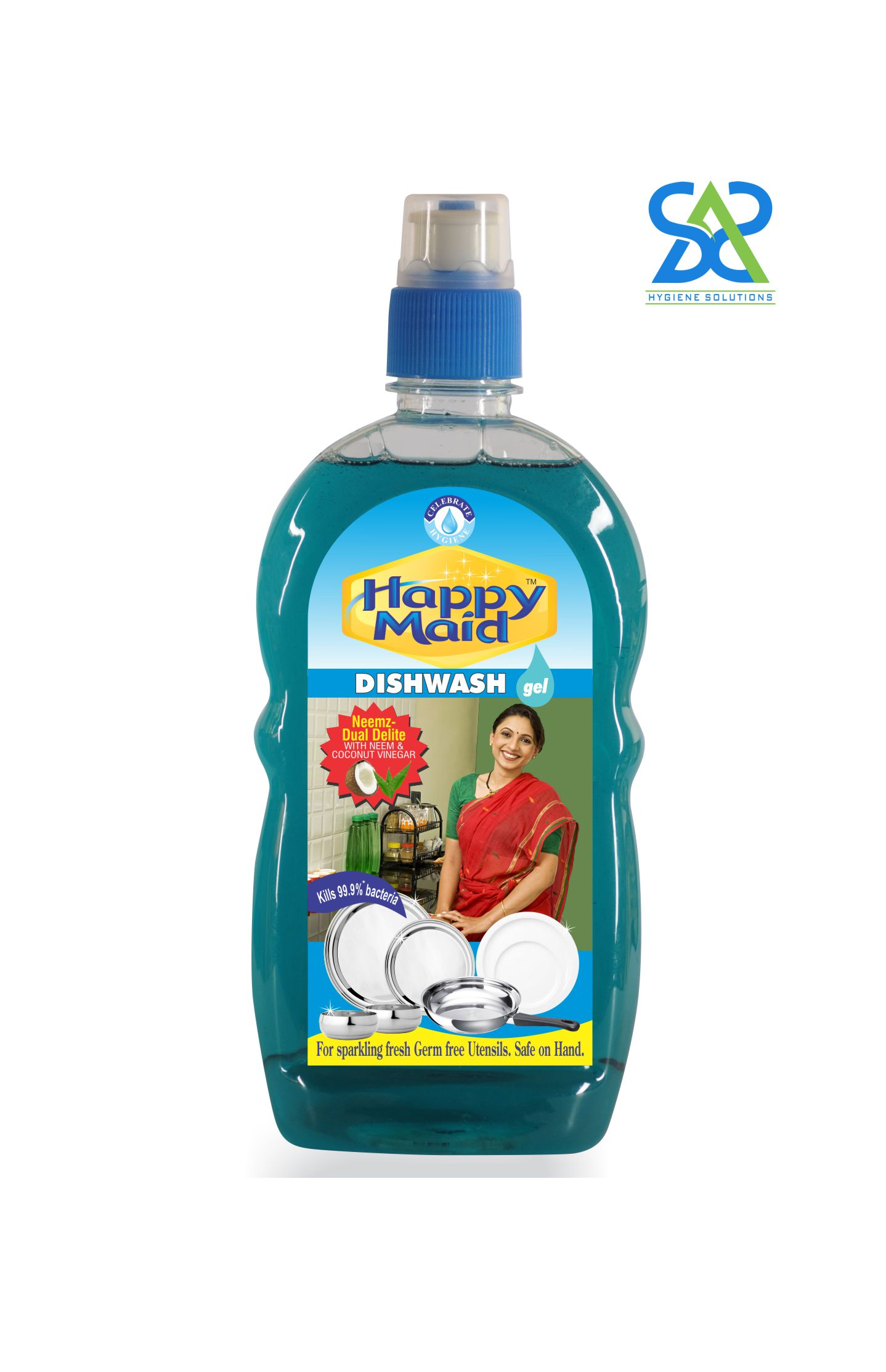 Happy Maid Neem Liquid Dishwash, 500 ml