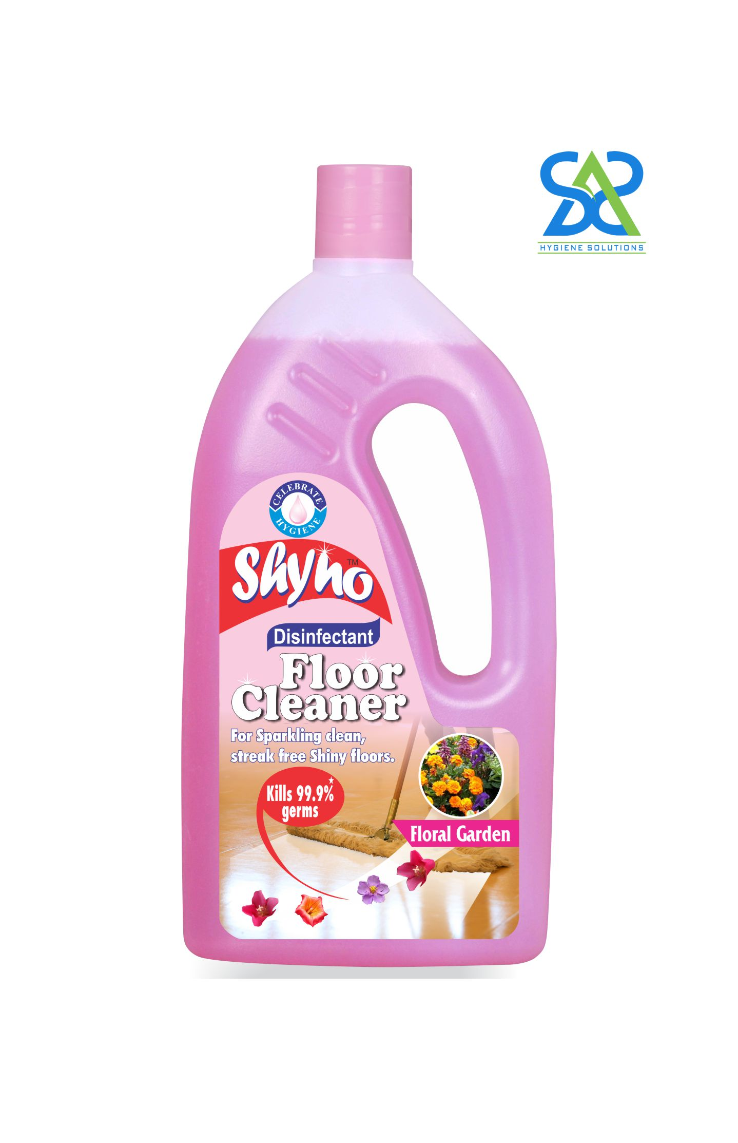 Shyno Disinfectant Floor Cleaner, 475 ml - Floral Garden