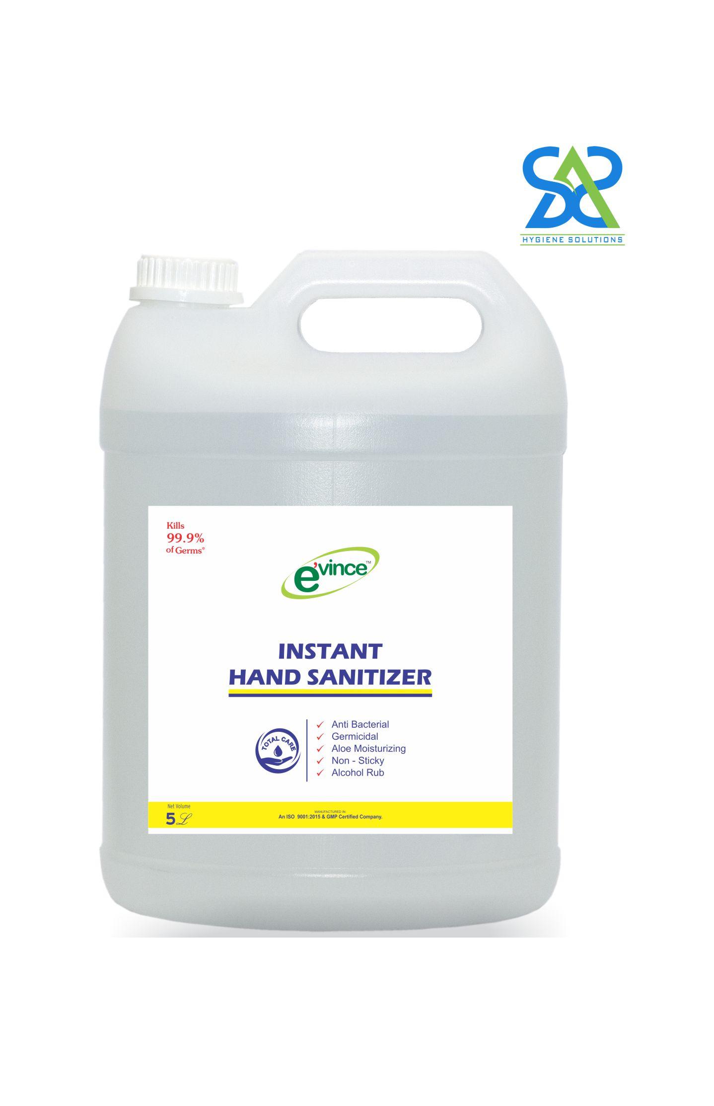 Evince Instant Hand Sanitizer Gel, 5 Litres