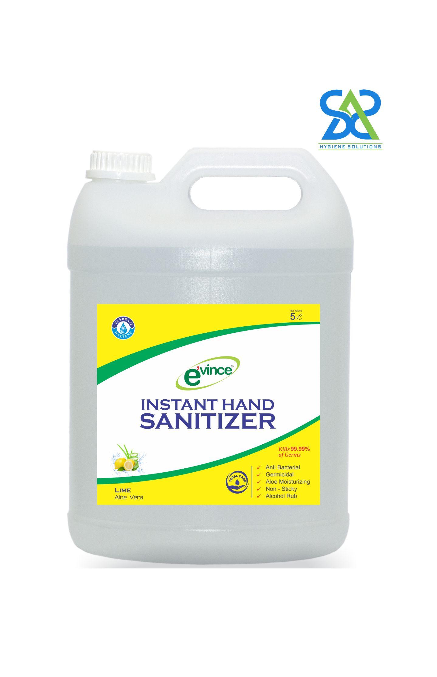 Evince Instant Hand Sanitizer Gel, 5 Litres - Lime