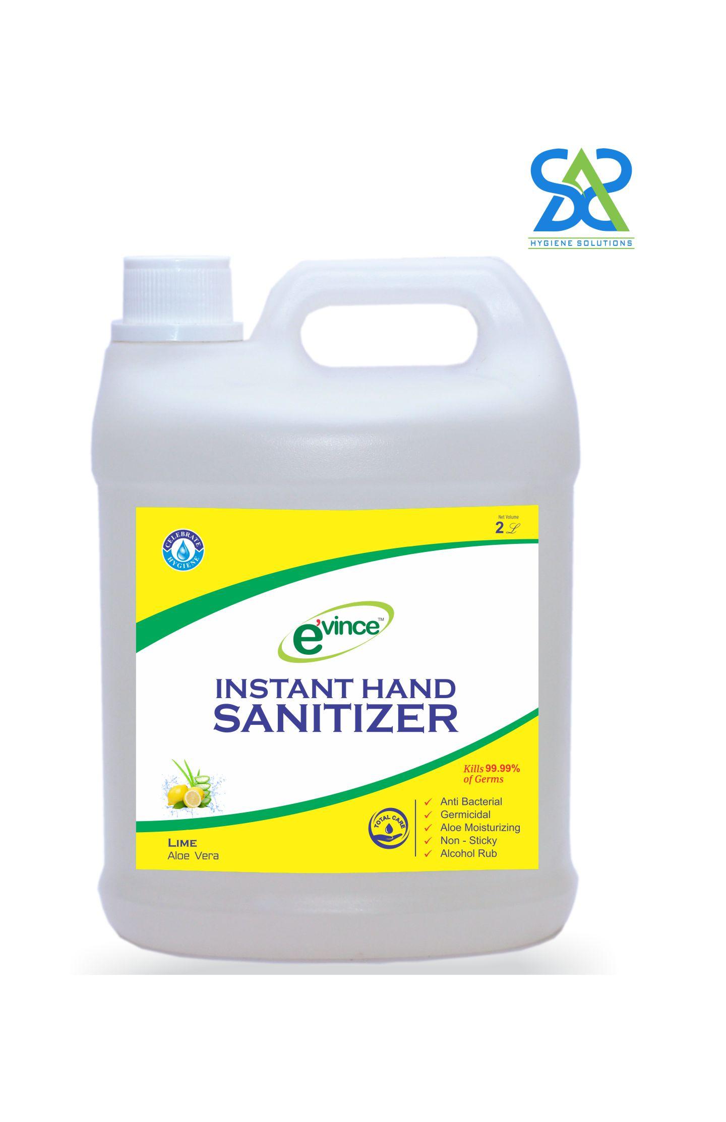 Evince Instant Hand Sanitizer Gel, 2 Litres - Lime