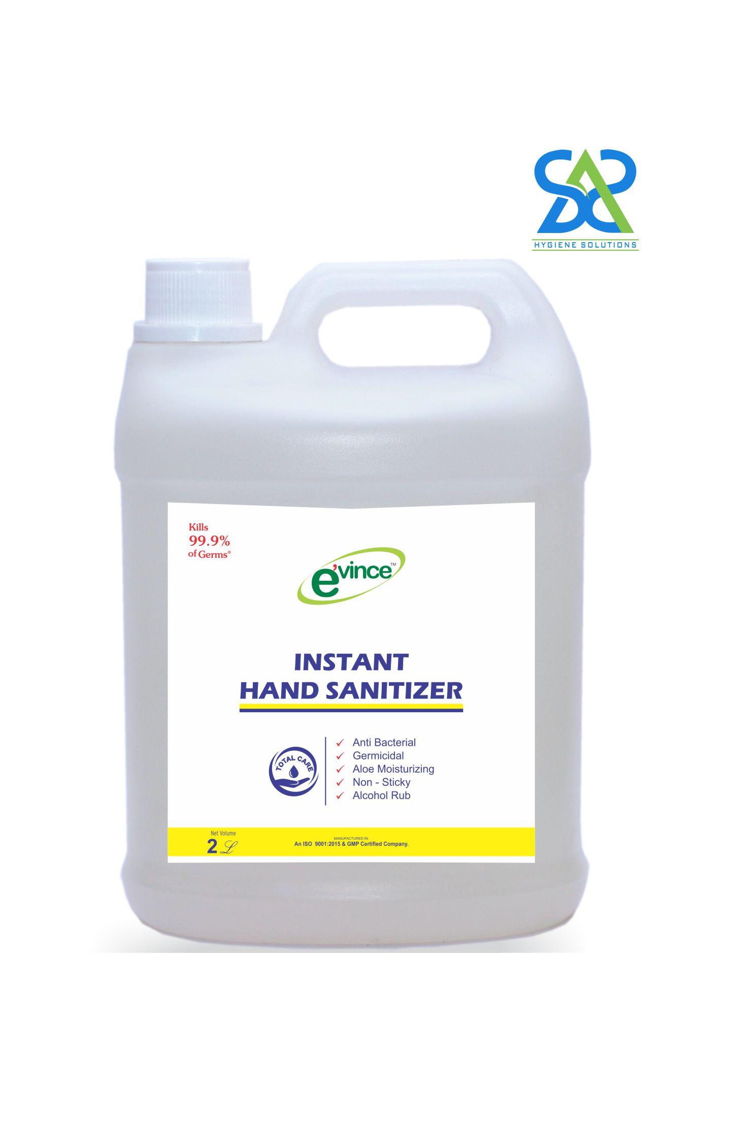 Evince Instant Hand Sanitizer Gel, 2 Litres