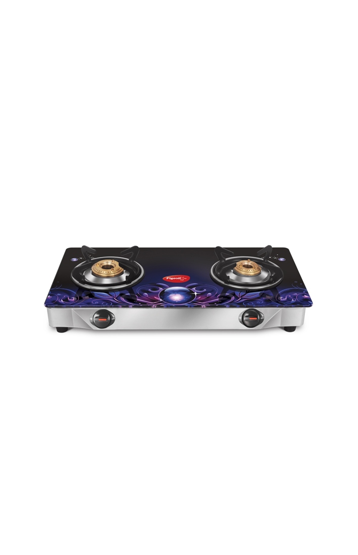 Smart Plus Glass 2 Burner Gas Stove - Zeus