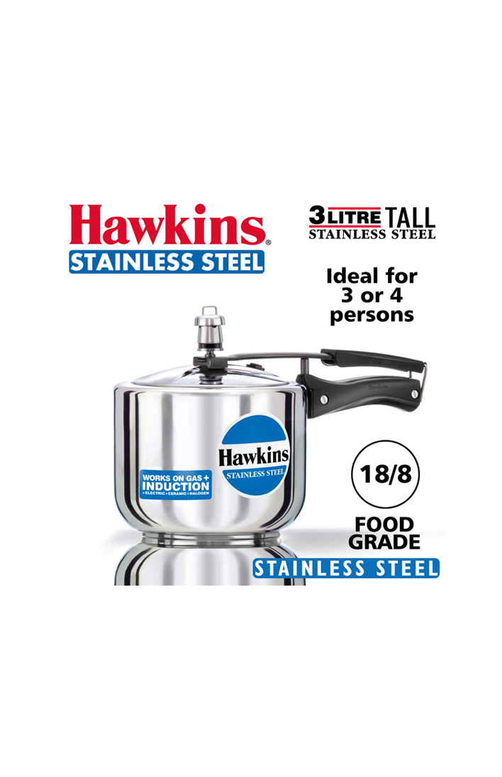 Hawkins Stainless Steel 3 Ltr. Tall