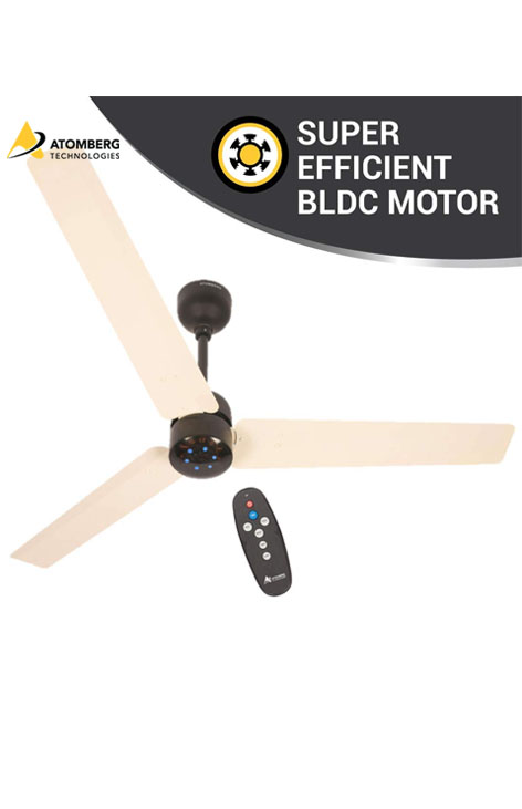Atomberg Renesa 1200mm BLDC Ceiling Fan with Remote - Ivory