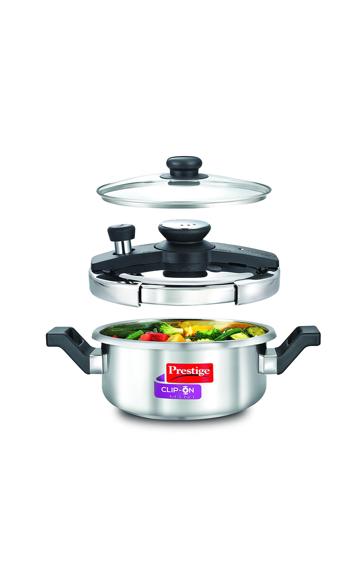 PRESTIGE Clip-on Mini Stainless Steel- 3 Litres
