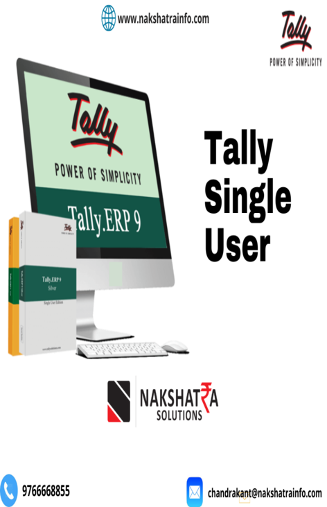 Tally.ERP9-Silver Edition Free TDLS Rs.4050