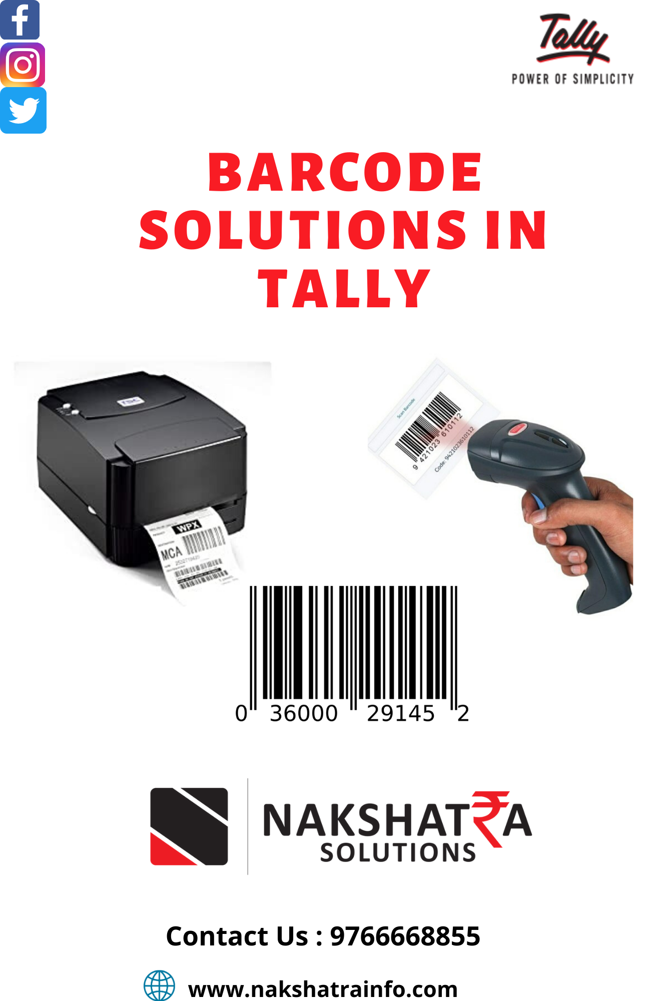 Barcode Solution through Tally.ERP9
