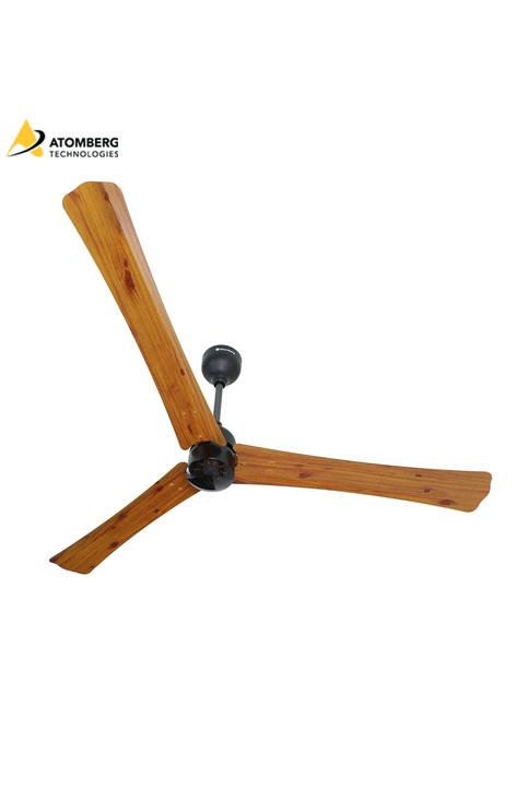 Atomberg Renesa+ 1400 mm BLDC Ceiling Fan with Remote - Golden Oakwood
