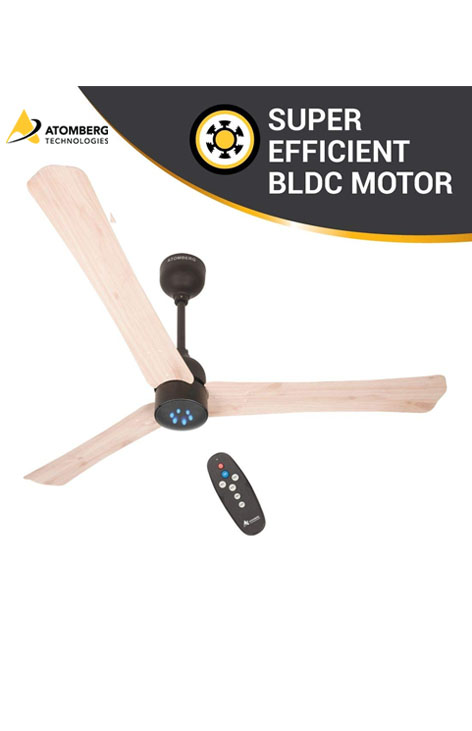 Atomberg Renesa Smart+ 1200 mm BLDC  Ceiling Fan  with Remote - Natural White Oakwood