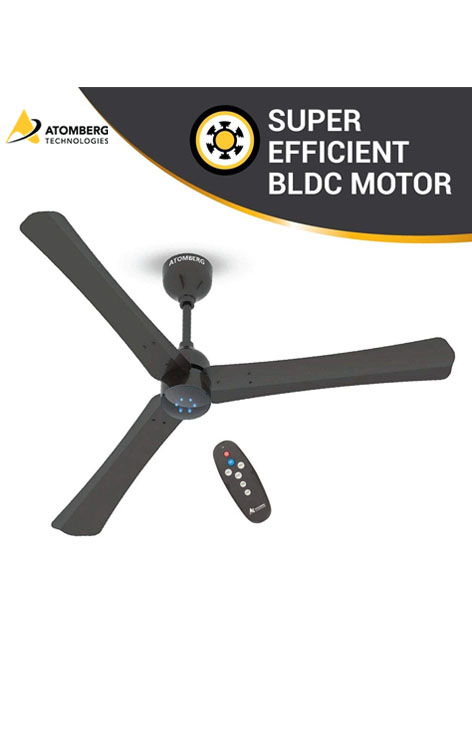 Atomberg Renesa Smart+ 1200 mm BLDC  Ceiling Fan  with Remote - Earth Brown