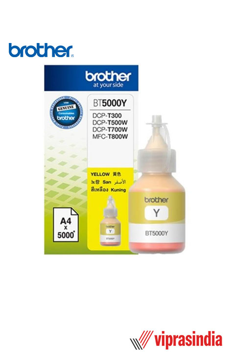Ink Bottle Brother BT5000Y 48.8ml Yellow