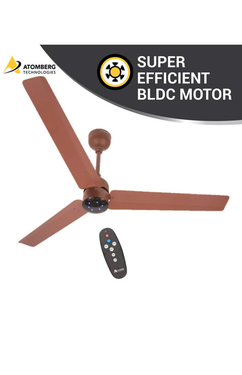 Atomberg Renesa 1200mm BLDC Ceiling Fan with Remote - Matte Brown