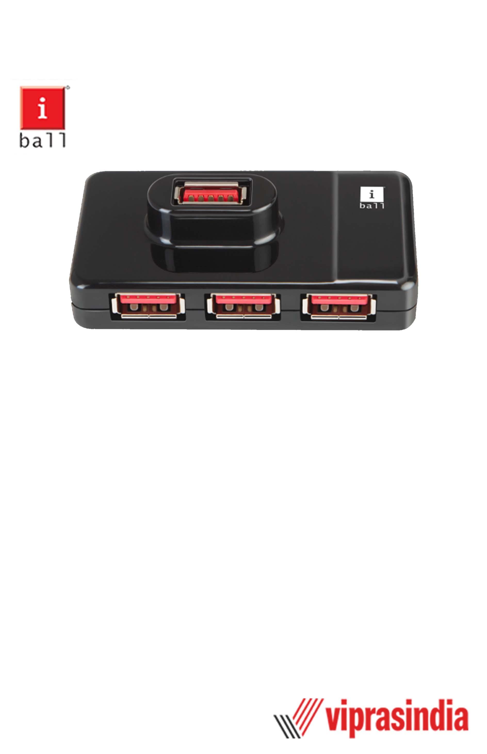 USB 3.0 Hub iBall Piano 430 (4 Ports)