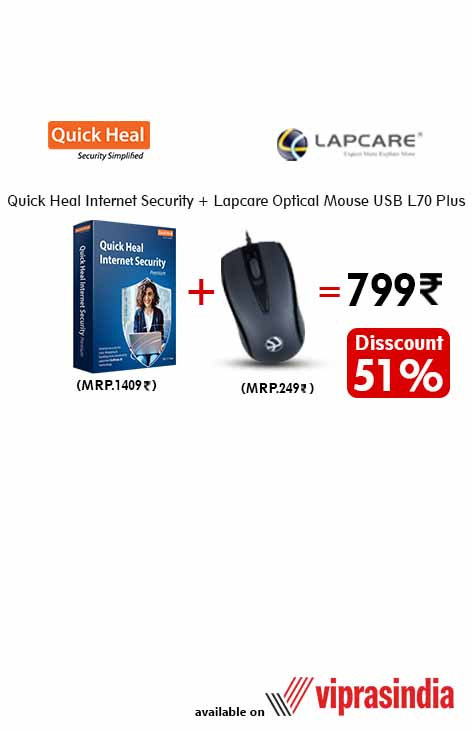 Quick Heal Antivirus + Lapcare USB Mouse