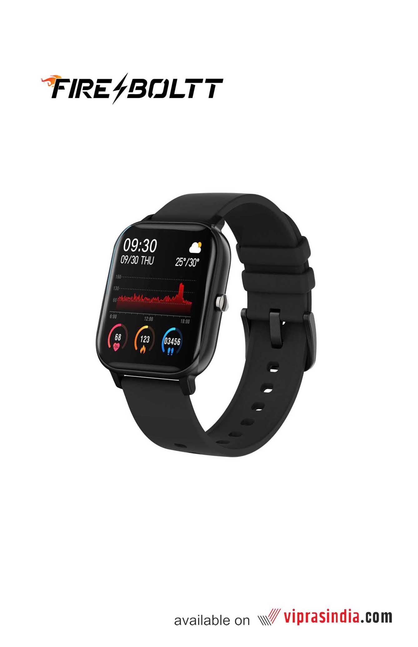 Fire-Boltt SPO2 Fitness Smartwatch (Black)