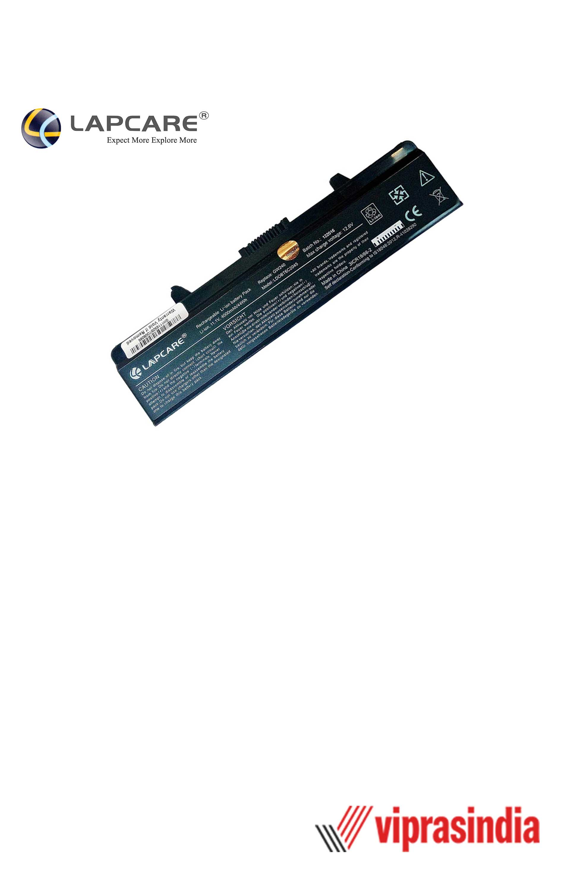 Laptop Battery Lapcare Compatible For DELL 1525