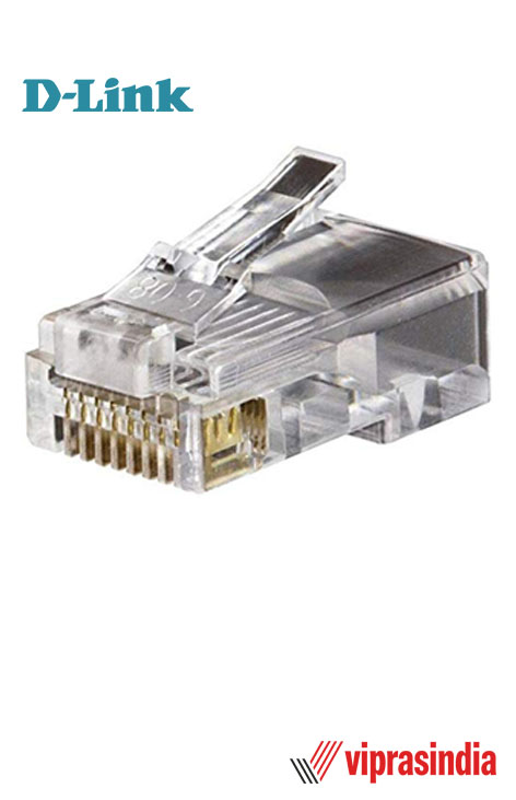Connector RJ 45 D-Link Plastic  - Pack Of 100 Pieces (Transparent)