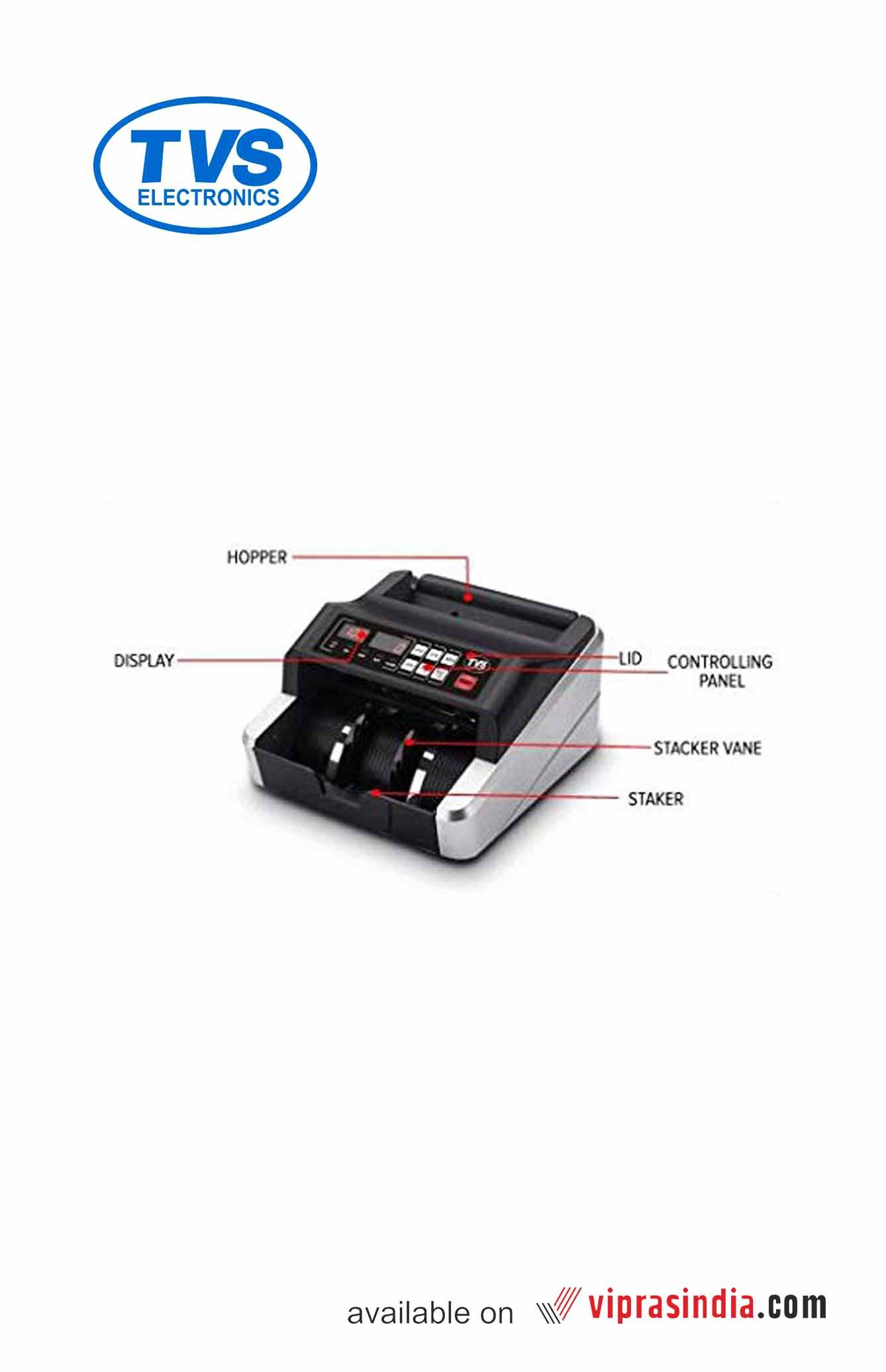 TVS Electronics Cash Counting Machine -CC232 Classic