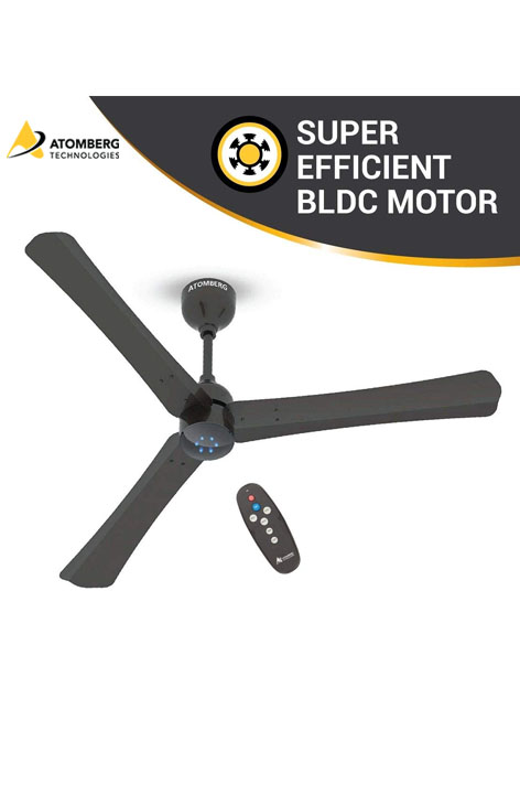 Atomberg Renesa+ 1200 mm BLDC  Ceiling Fan  with Remote - Earth Brown