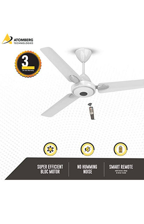 Atomberg Efficio+ 1200 mm BLDC Ceiling Fan with Remote - Pearl White