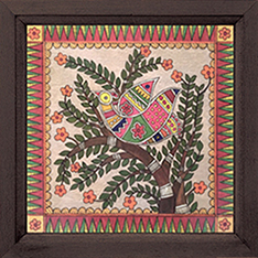 Madhubani Bird 3 Painting