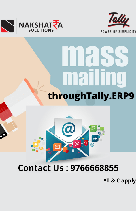 Mass Mailing through Tally.ERP9