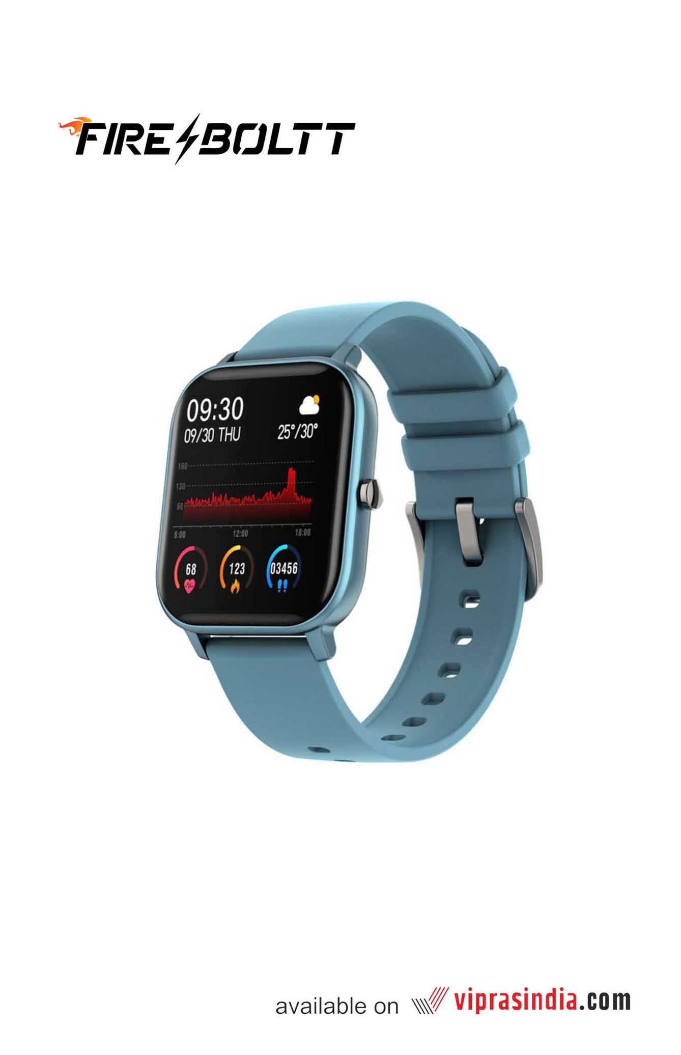 Fire-Boltt SPO2 Fitness Smartwatch (Blue)