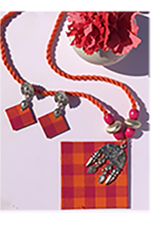 Pink and Orange necklace Set